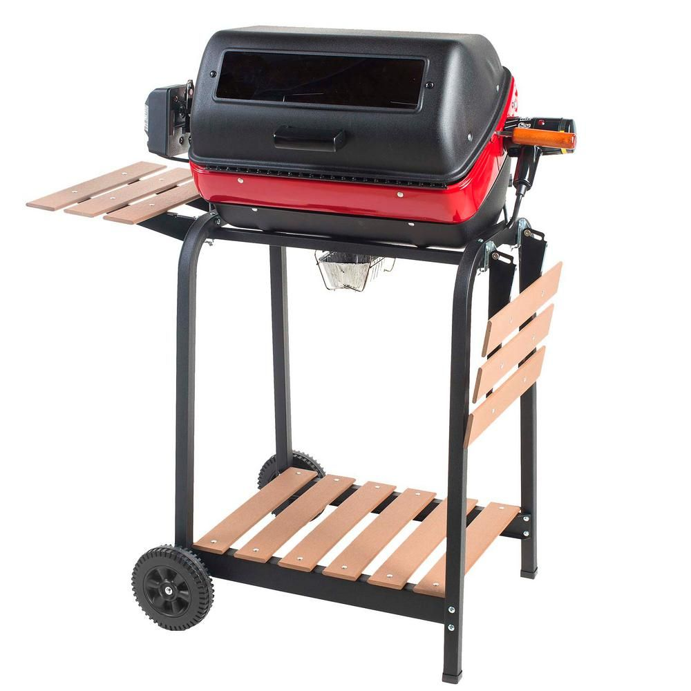 Americana Deluxe Electric Cart Grill In Black 9329u8 181 With