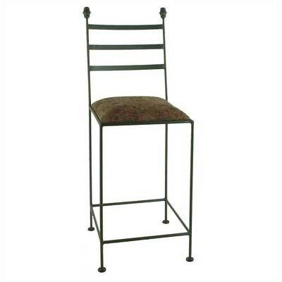 """24"""" Iron Collar Barstool Finish: Stone, Fabric: Mocha by Grace Collection. $194.99. 3024-SHAKER+-ST-F-121 Finish: Stone, Fabric: Mocha Features: -Ships fully assembled. Color/Finish: -Painted according to your choice of metal finish. Dimensions: -Dimensions: 16'' W x 19'' D x 42'' H."""