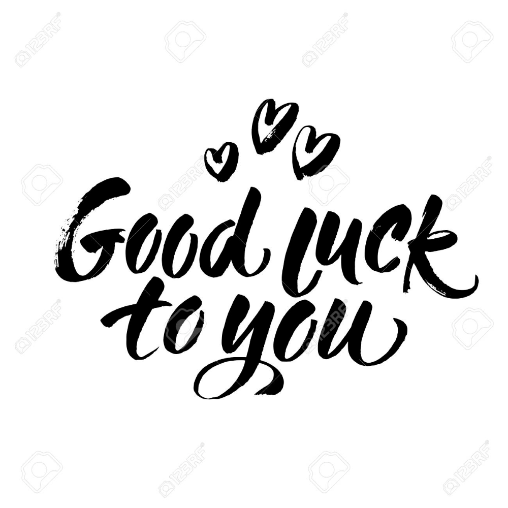 Vector Modern Brush Calligraphy Inscriptions Good Luck To You Good Luck To You Cute Quotes For Instagram Luck