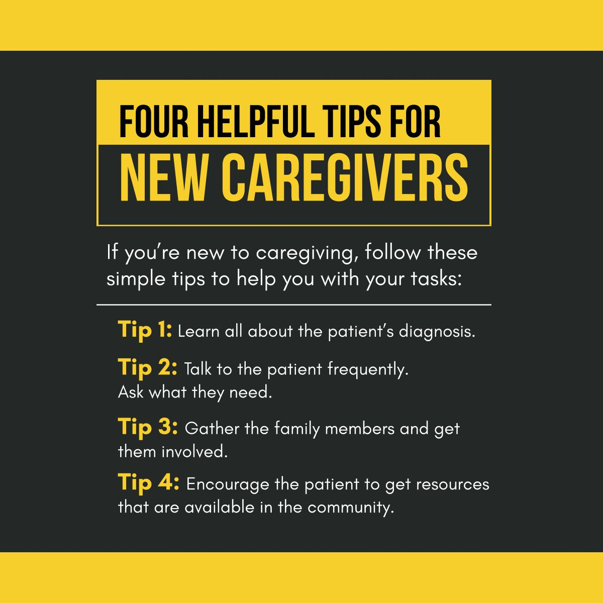 Four Helpful Tips for New Caregivers Caregiving
