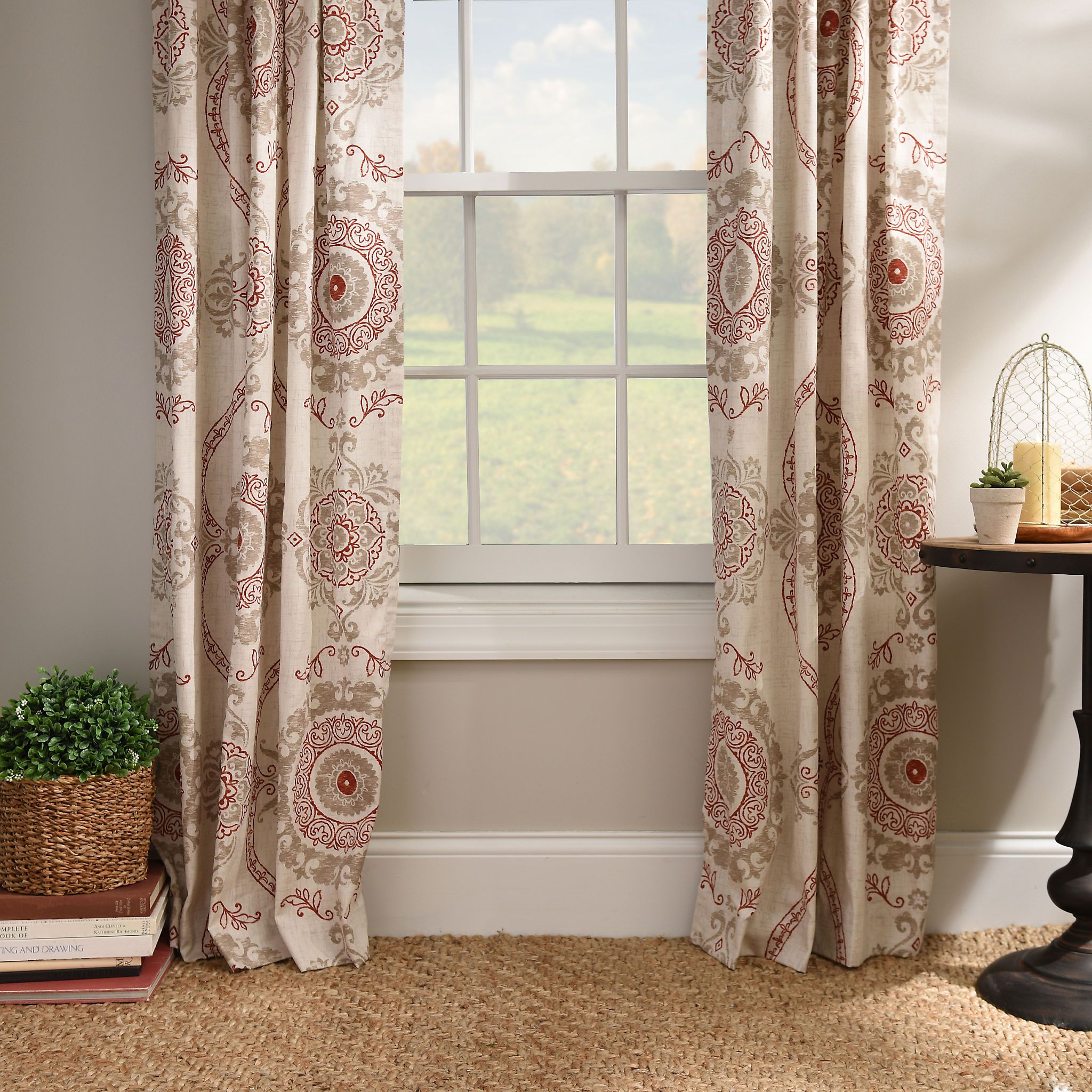 Spice Loretta Curtain Panel Set 96 in Curtain PanelsCurtainsLaundry RoomsFamily