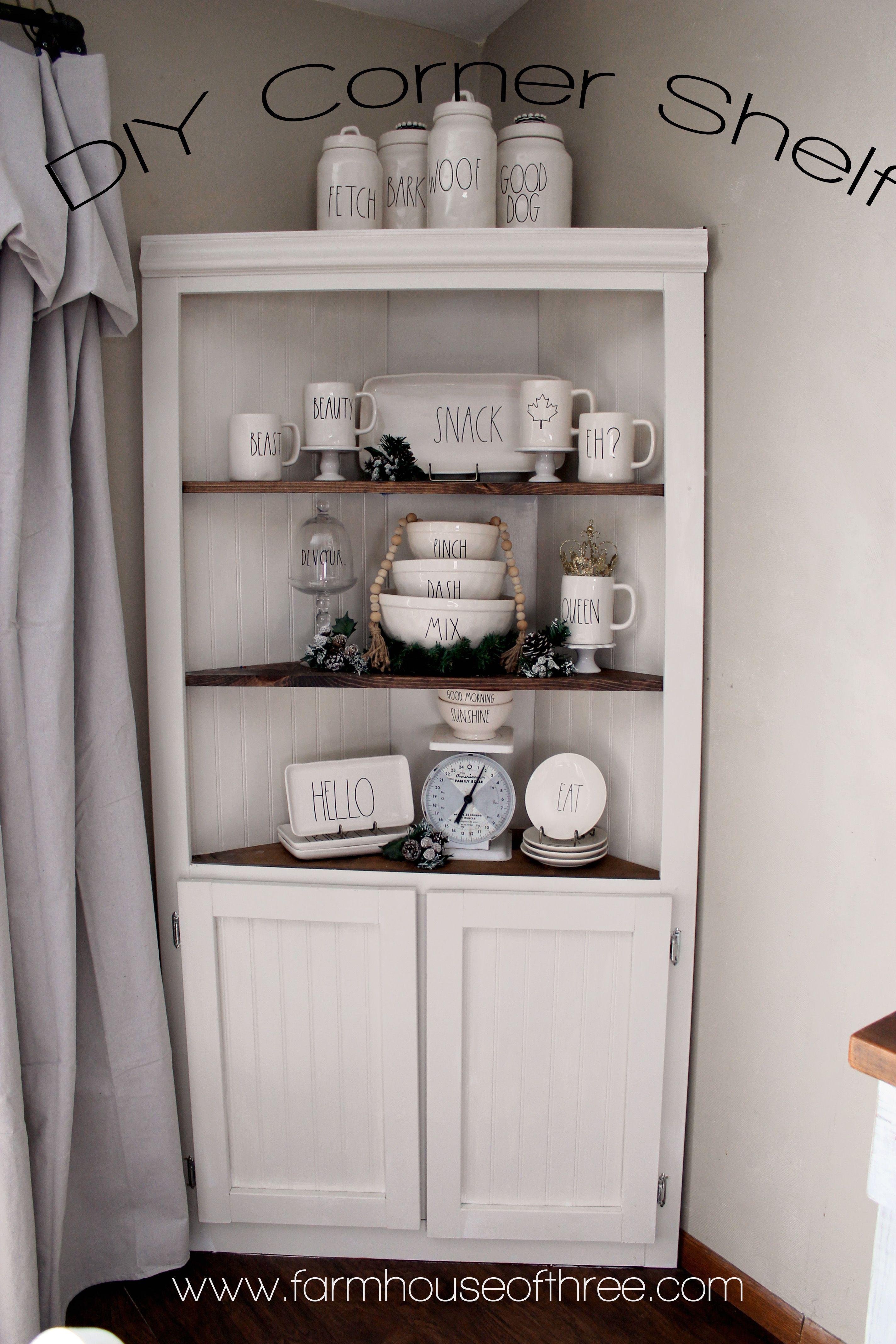 DIY Corner Hutch For the Home Pinterest