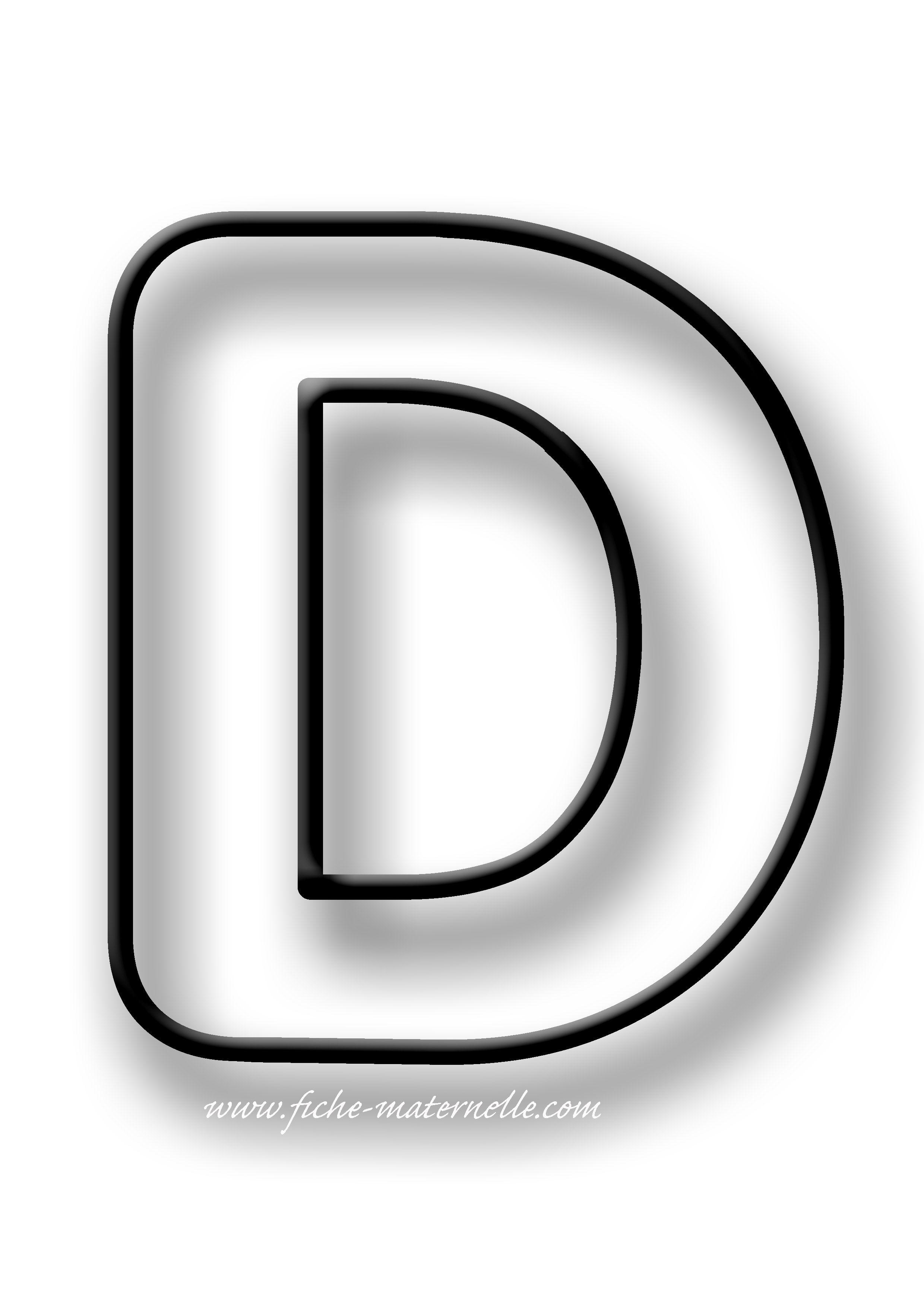 Coloriage de la lettre D   Alphabet à colorier, Coloriage alphabet ...