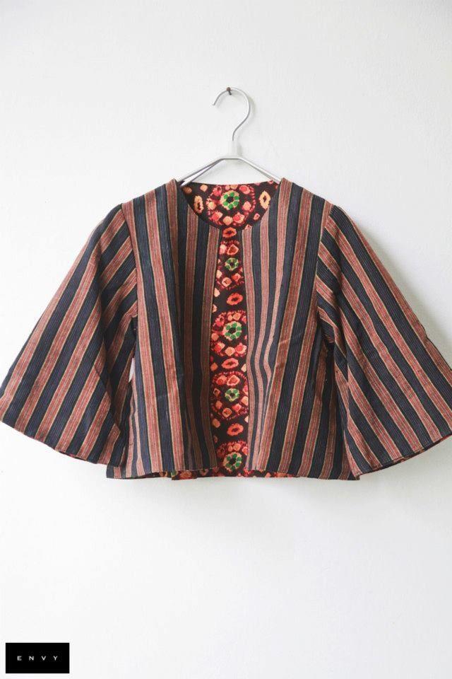 Batik Jacket Indonesian Batik Clothes Kasual Gaun Dan Kain