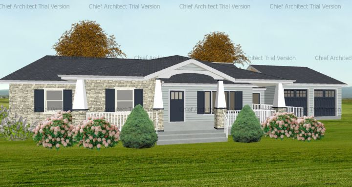 Front Porch Design Ideas Hip Roof And Double Gable Front