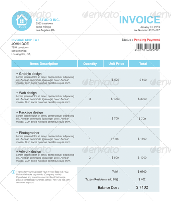 35+ Best Invoice Templates PSD DOCX Free and Premium