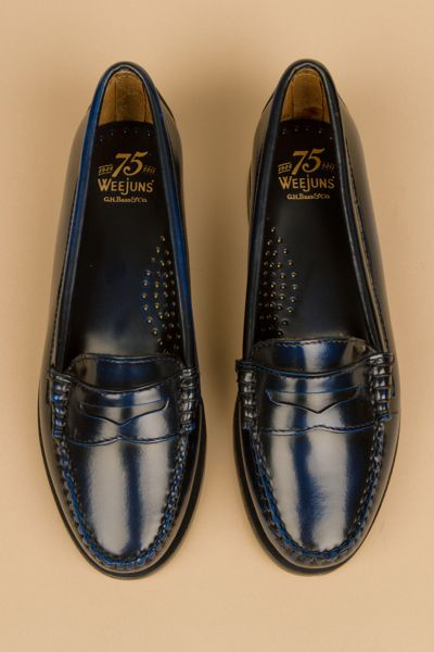 Women's Navy Blue Bass Weejuns. Love. | Loafers for women ...