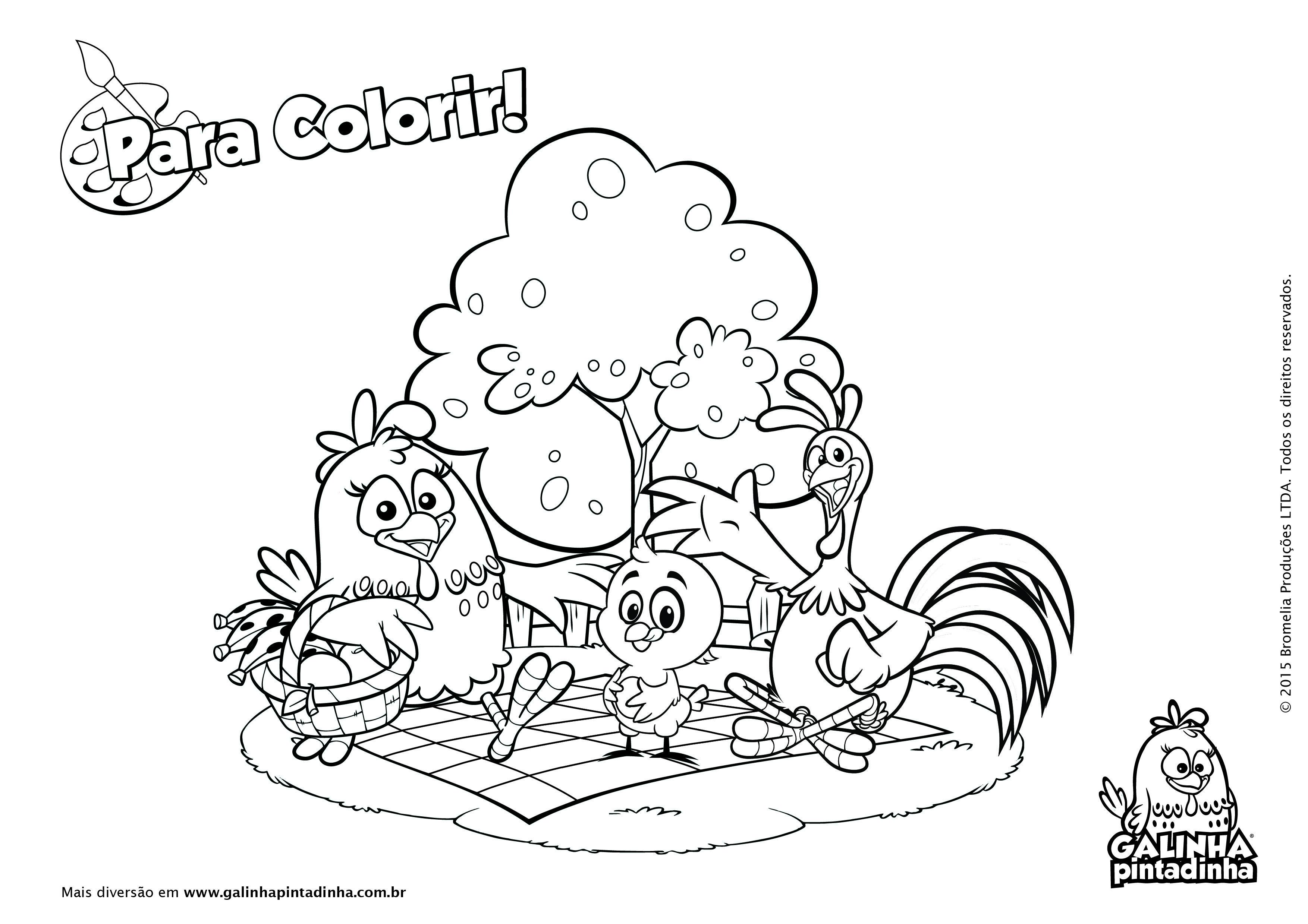 Galinha Pintadinha Para Colorir Desenho Da Galinha Pintadinha