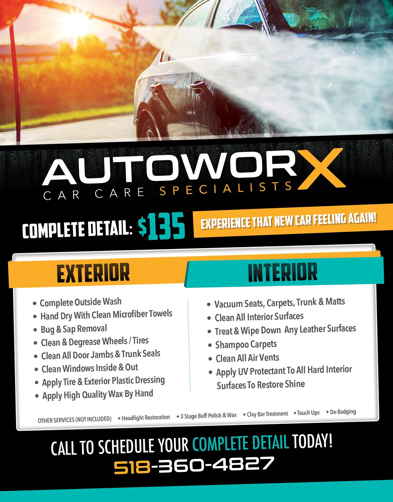 AutoworX auto detailing flyer print advertising car Facebook – Auto Detailing Flyer Template