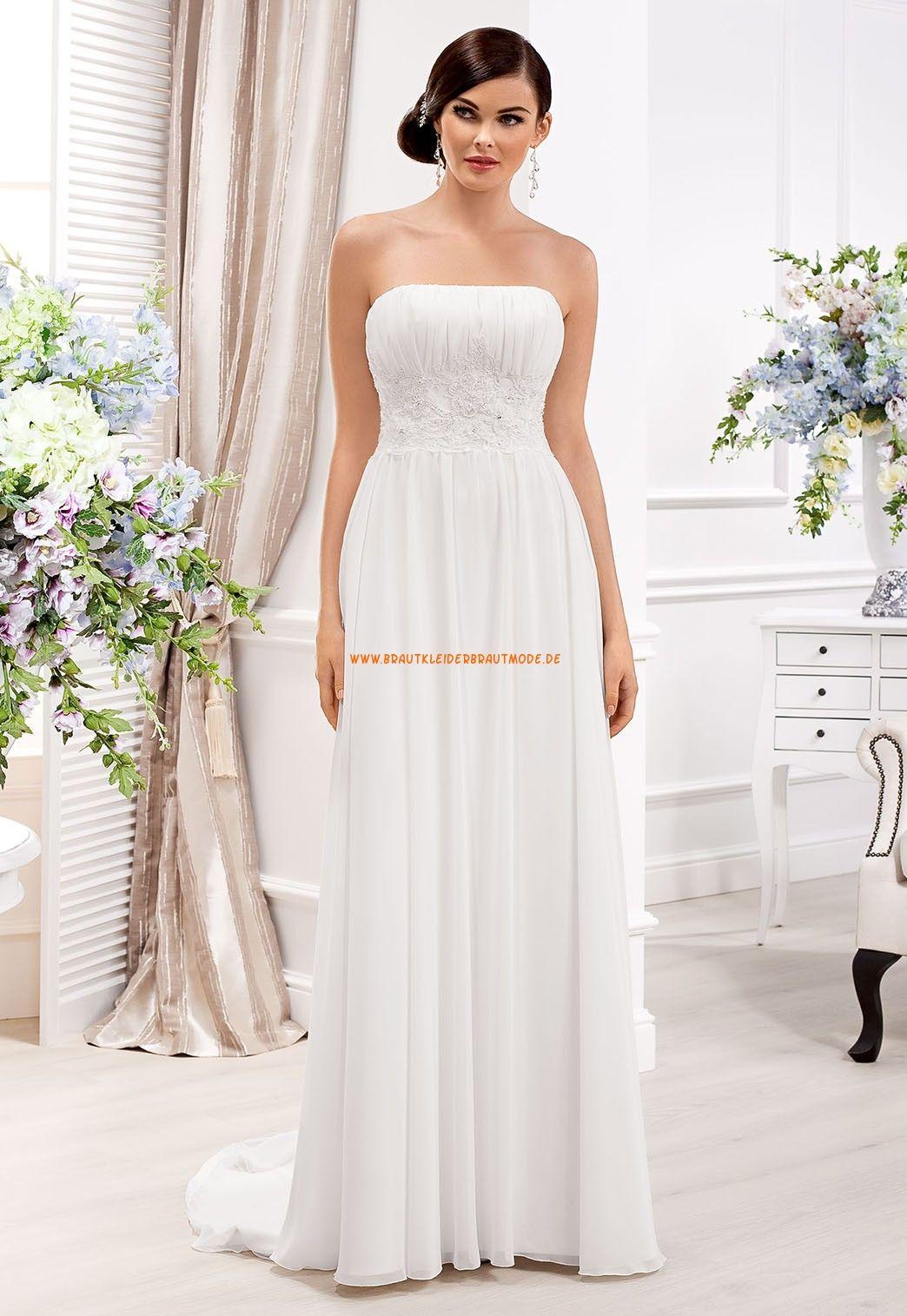 Wunderschön Schlicht Designer brautkleider aus Chiffon | Brautkleid ...