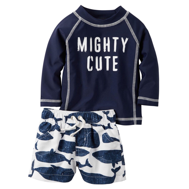 2 Piece Mighty Cute Rashguard Set