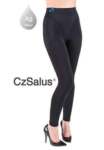 8ded486cb8219 Anti cellulite slimming leggings Fuseaux silver Black size XXL *** You can  find out more details at the link of the image.