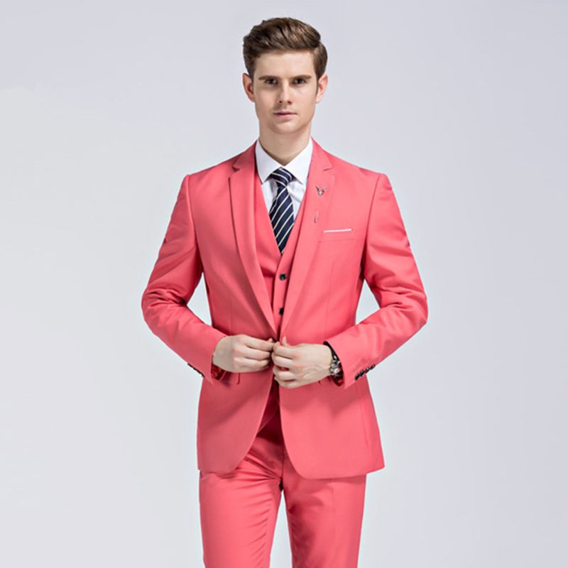 Fire Kirin Men Wedding Suit White Groom Tuxedos For Men Slim Fit ...