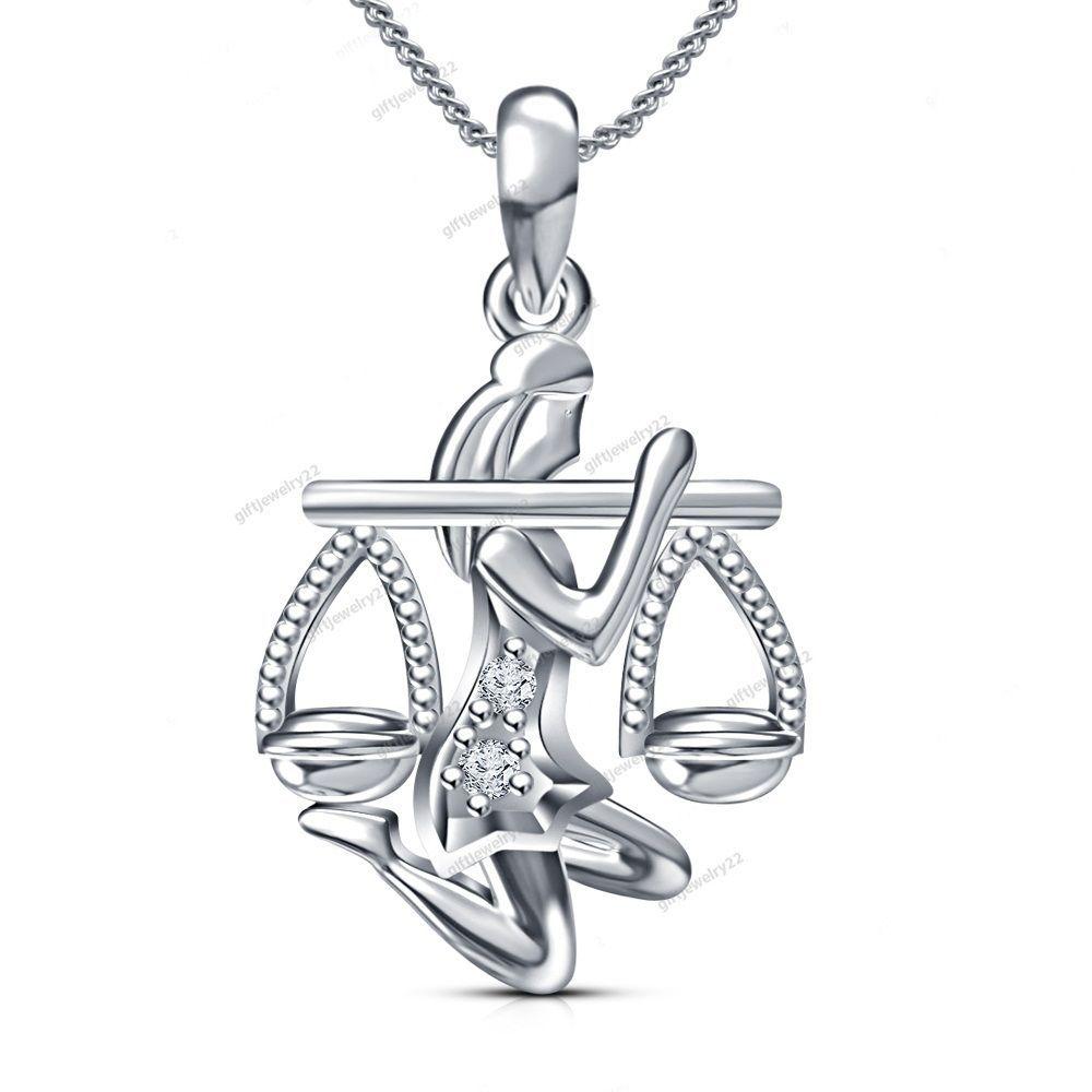 Free pouch k gold plated round cut dvvs diamond zodiac pendant