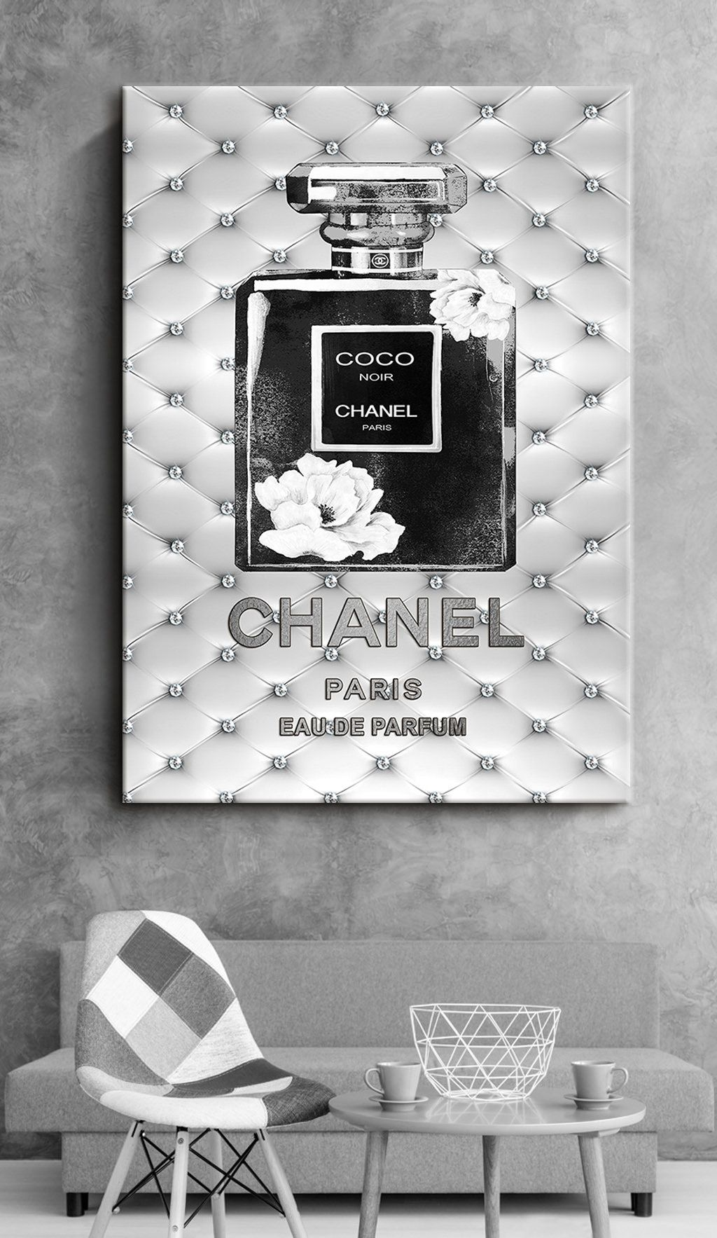 Fashion Wall Art Canvas Wall Art Chanel Perfume Prints Fashion Etsy Chanel Wall Art Fashion Wall Art Canvases Chanel Room