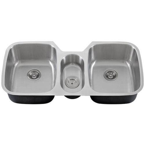 43 Inch Stainless Steel Undermount Triple Bowl Kitchen Sink 16 Gauge Stainless Steel Undermount Sinks Kitchen Stainless Sink