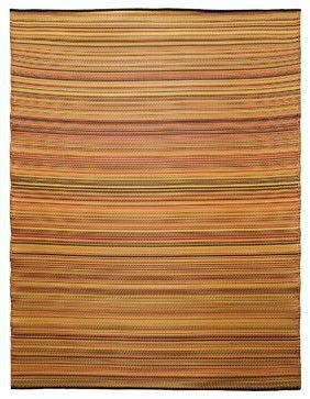 Melange Floor Mat Ginger Orange Mix 6 X 8 Contemporary Outdoor Rugs Koko Company