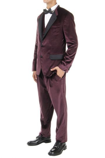 Dolce & Gabbana Velvet suit with double flaps at the rear (art.  0101 XS G1SEET FUWAK M5039)