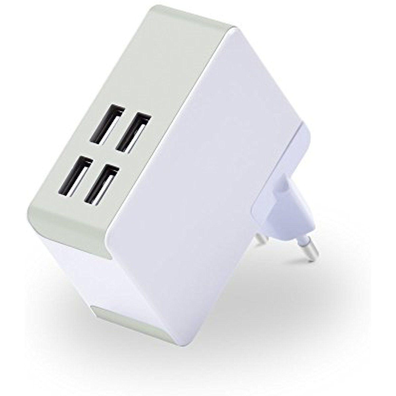 Top Longer 5V 8A Portable 4 Port USB Wall Charger Universal