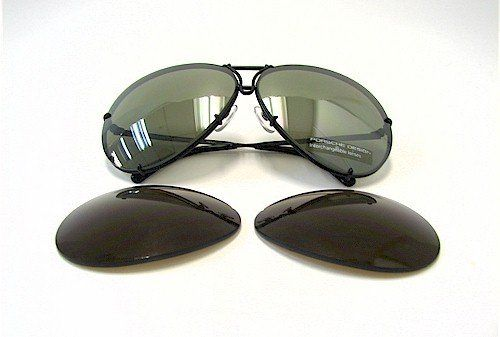 9c6b88ce5848 Porsche Design P8478 D P 8478 D Matte Black Aviator Sunglasses 63mm W Extra