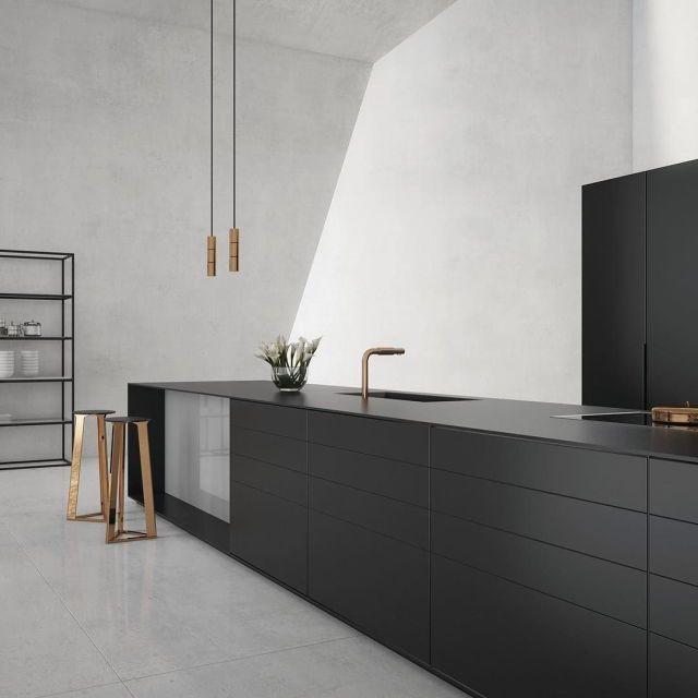 Sugerencias para conseguir una cocina negra radiante | Cocinas ...