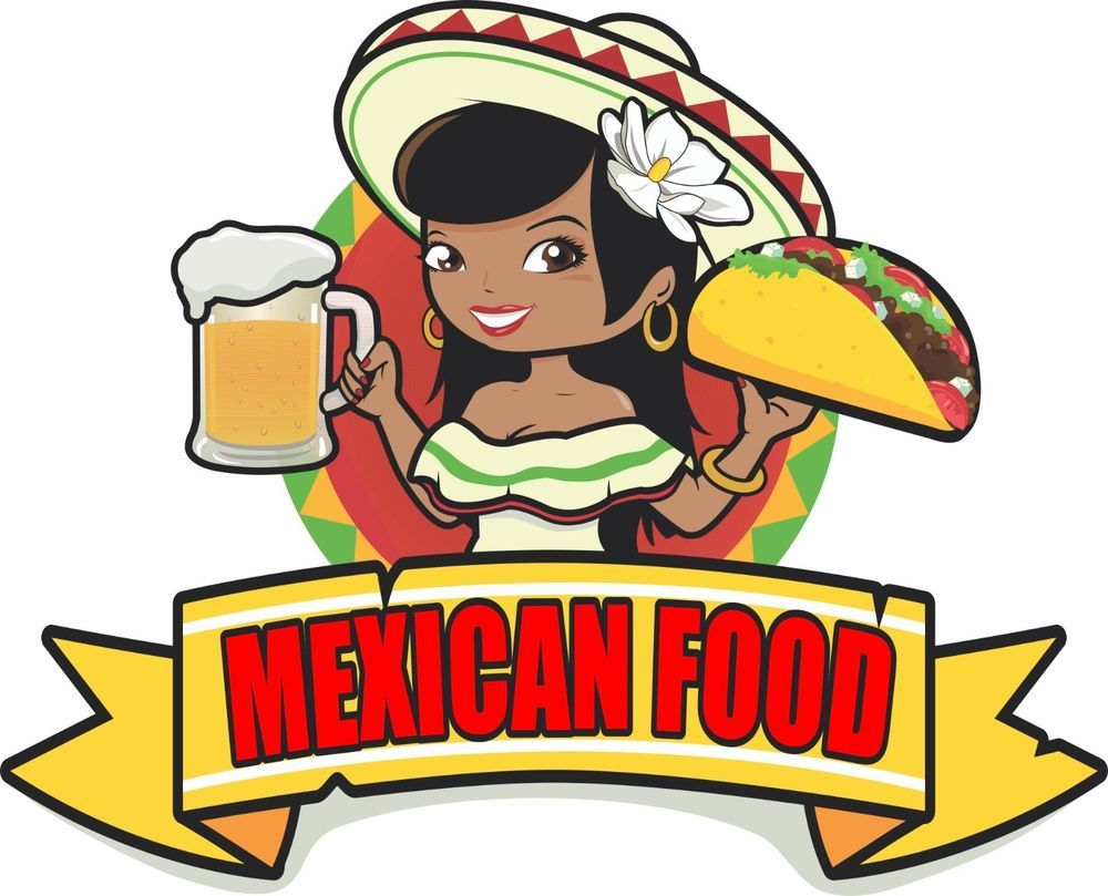 Choose Your Size Mexican Food DECAL Concession Food Truck Vinyl Sign Catering