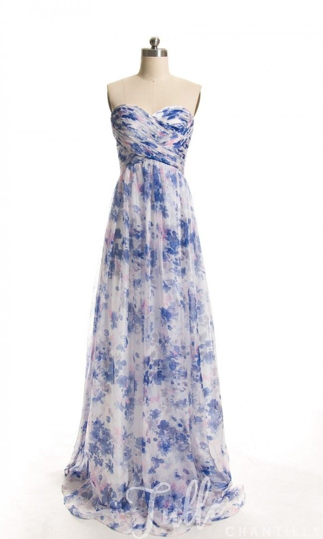 f161ba6b801 Full Length Sweetheart Floral Printed Bridesmaid Dresses with Removable  Strap TBQP345 click for 40+ colors