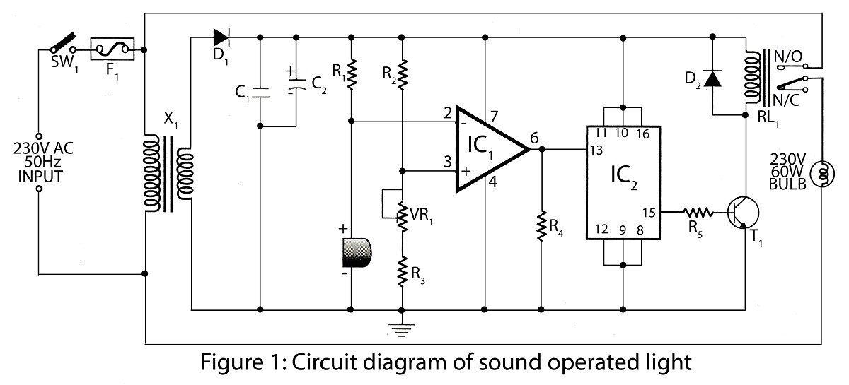 circuit diagram of sound operated light ardunoise pinterest rh pinterest com Surf Simulator Indoor Waterpark Surf Simulators Homemade