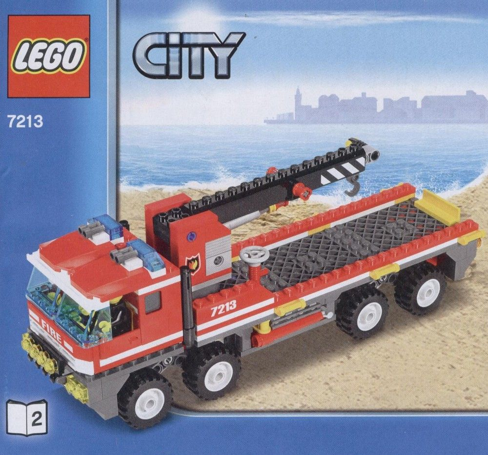 City Off Road Fire Truck And Fireboat Lego 7213 Legos