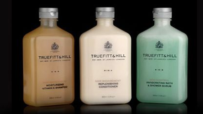 Truefitt and Hill:   Moisturizing VE Shampoo, Replenishing Conditioner & Body Scrub