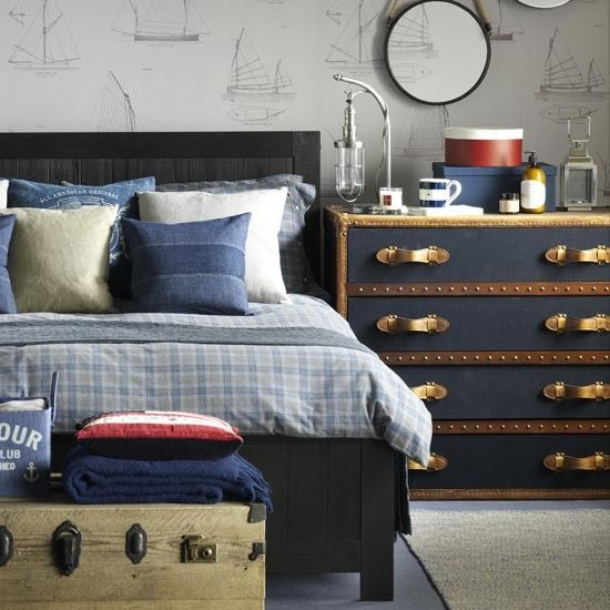 Girls Chic Wallpaper Kids Bedroom Feature Wall Decor: Teenage Boys' Bedroom Ideas