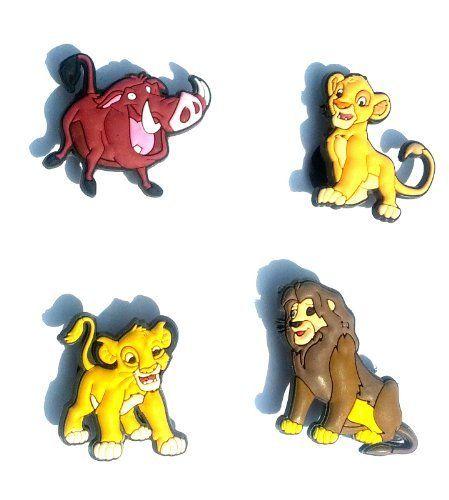 Lion King Shoe Charms 4 pcs Set