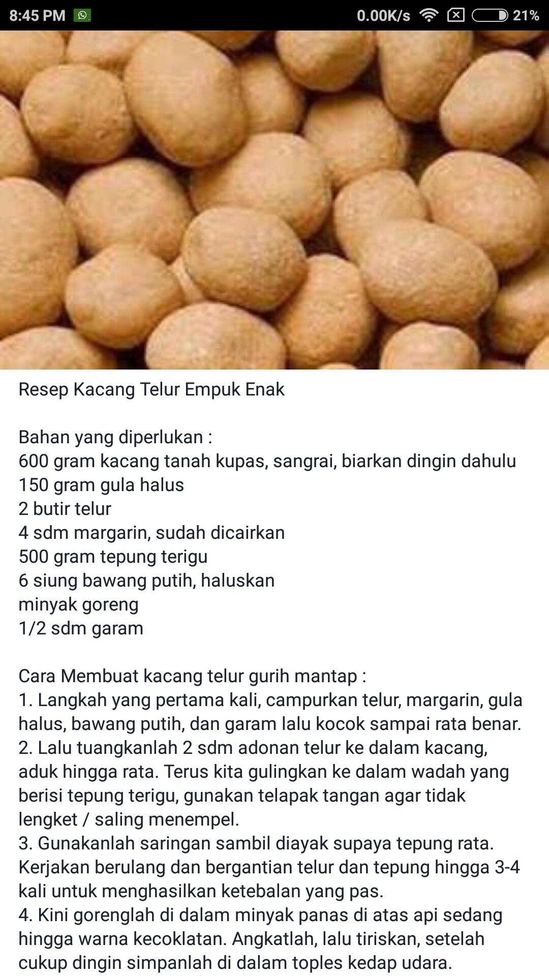 Kumpulan Resep Kacang Telur Renyah : kumpulan, resep, kacang, telur, renyah, Delos, Santos, Recipe, Makanan,, Makanan, Minuman,, Resep