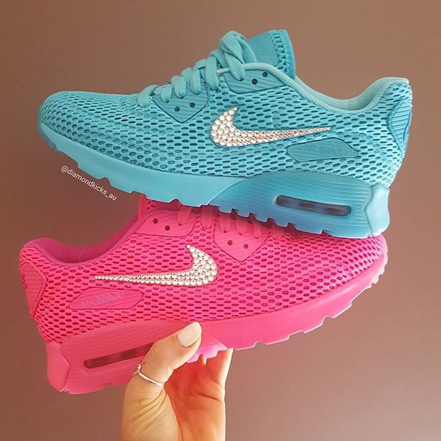 ecea7b34dade7 BLING Nike Air Max 90 Ultra Breathe Swarovski Crystals Made by ...