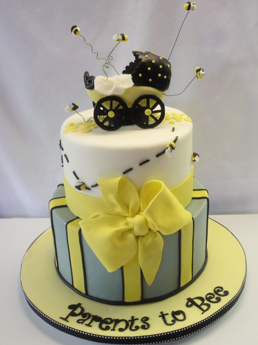 Ble Bee Baby Shower Cake Pas To