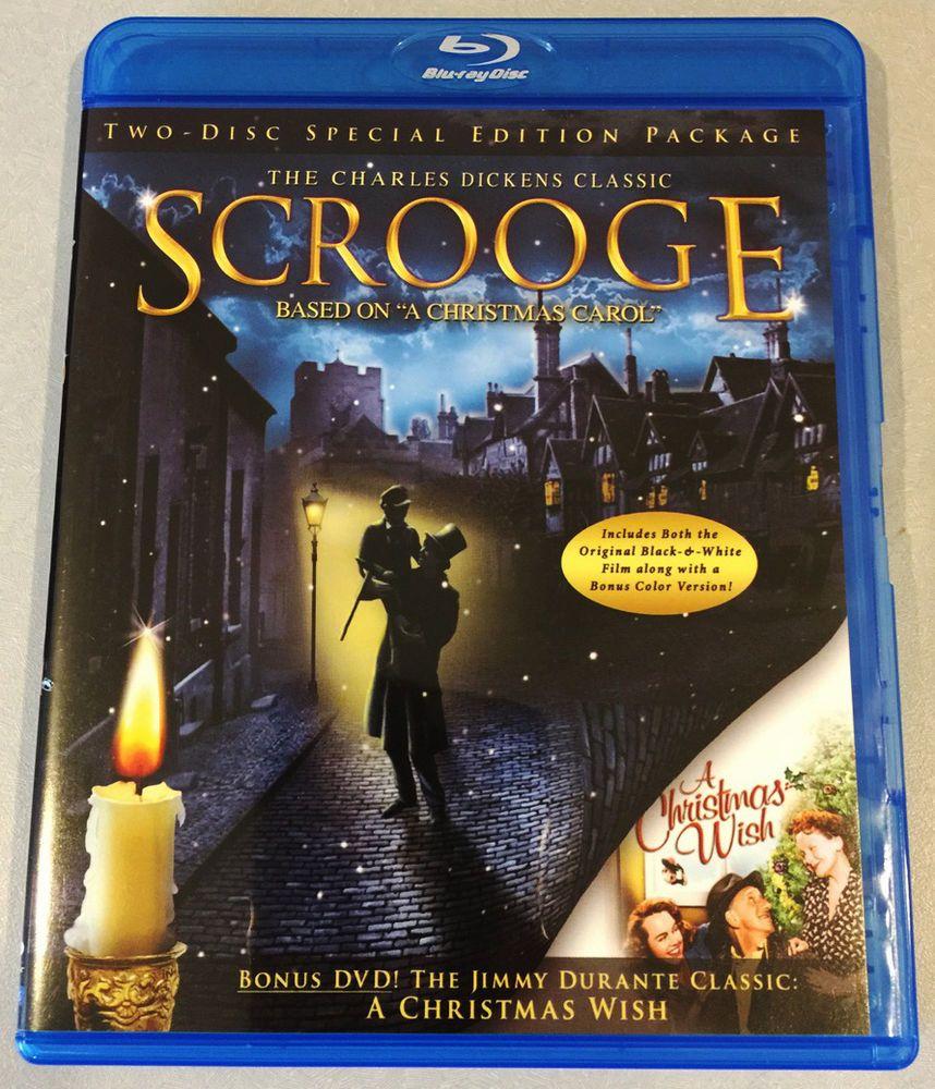 Scrooge 1935 Blu Ray A Christmas Wish 1950 Dvd Jimmy Durante 2 Disc Set Blu Ray Scrooge Blu Ray Discs