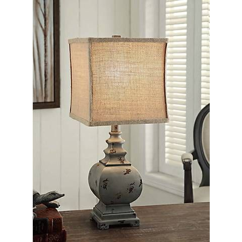 Crestview Collection Grayson Rustic Blue Accent Lamp 7j370 Lamps Plus Rustic Table Lamps Lamp Table Lamp