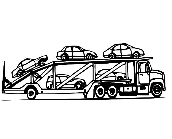 Car Transporter Cars Carrier Coloring Pages Best Place To Color Truck Coloring Pages Monster Truck Coloring Pages Cars Coloring Pages