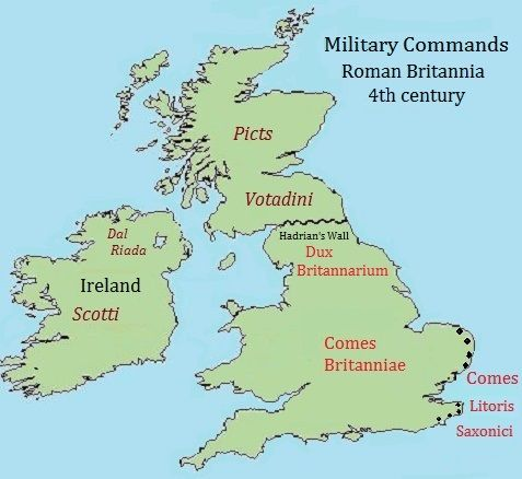 The Age Of Arthur Part Three Roman Britain Map Of Britain History Page