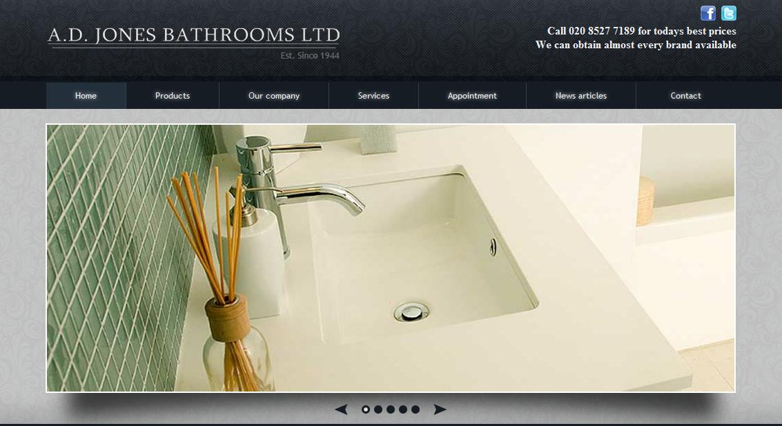 Cool looking bathroom website web design build in uk webdesign webdevelopment also rh pinterest