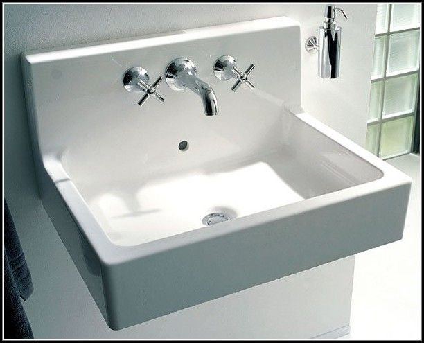 Bathroom Sinks That Mount On The Wall duravit wall mount bathroom sink - sinks and faucets : home design
