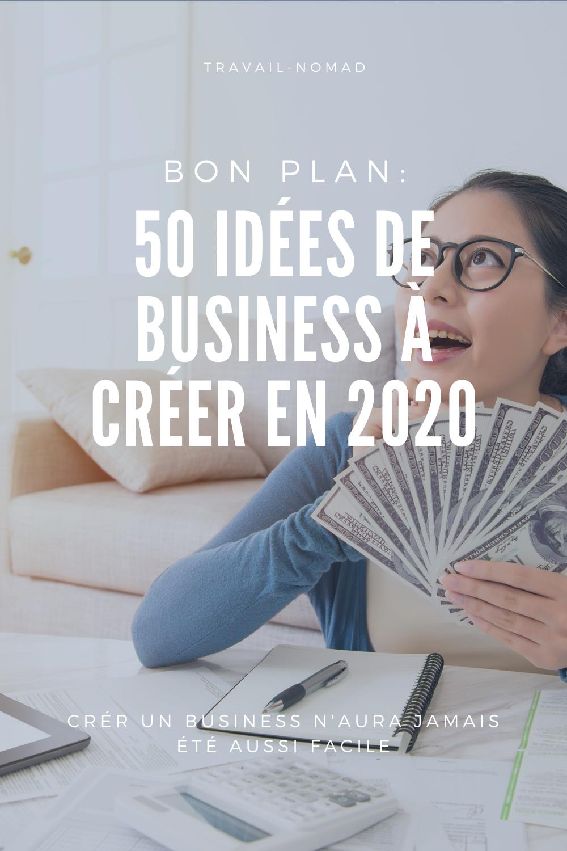 Les 50 idées de business en ligne à créer en 2020