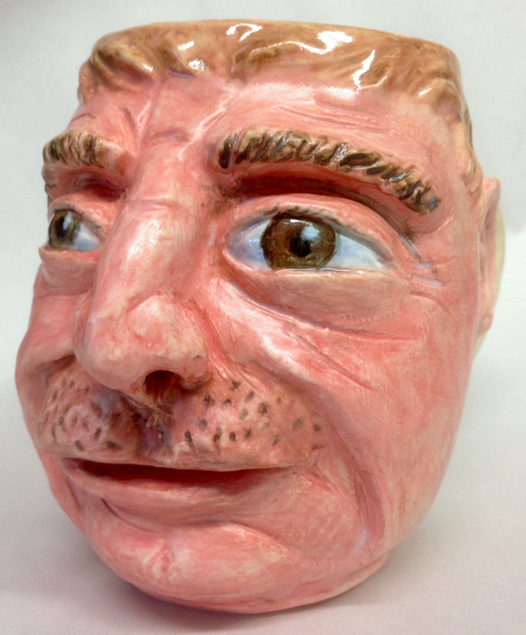 Face Mug, by Dave the potter, cone 6 stoneware
