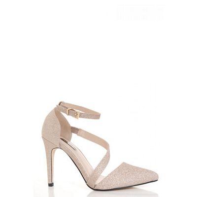 Womens Glitter Court Ankle Strap Sandals Quiz 3aDgX
