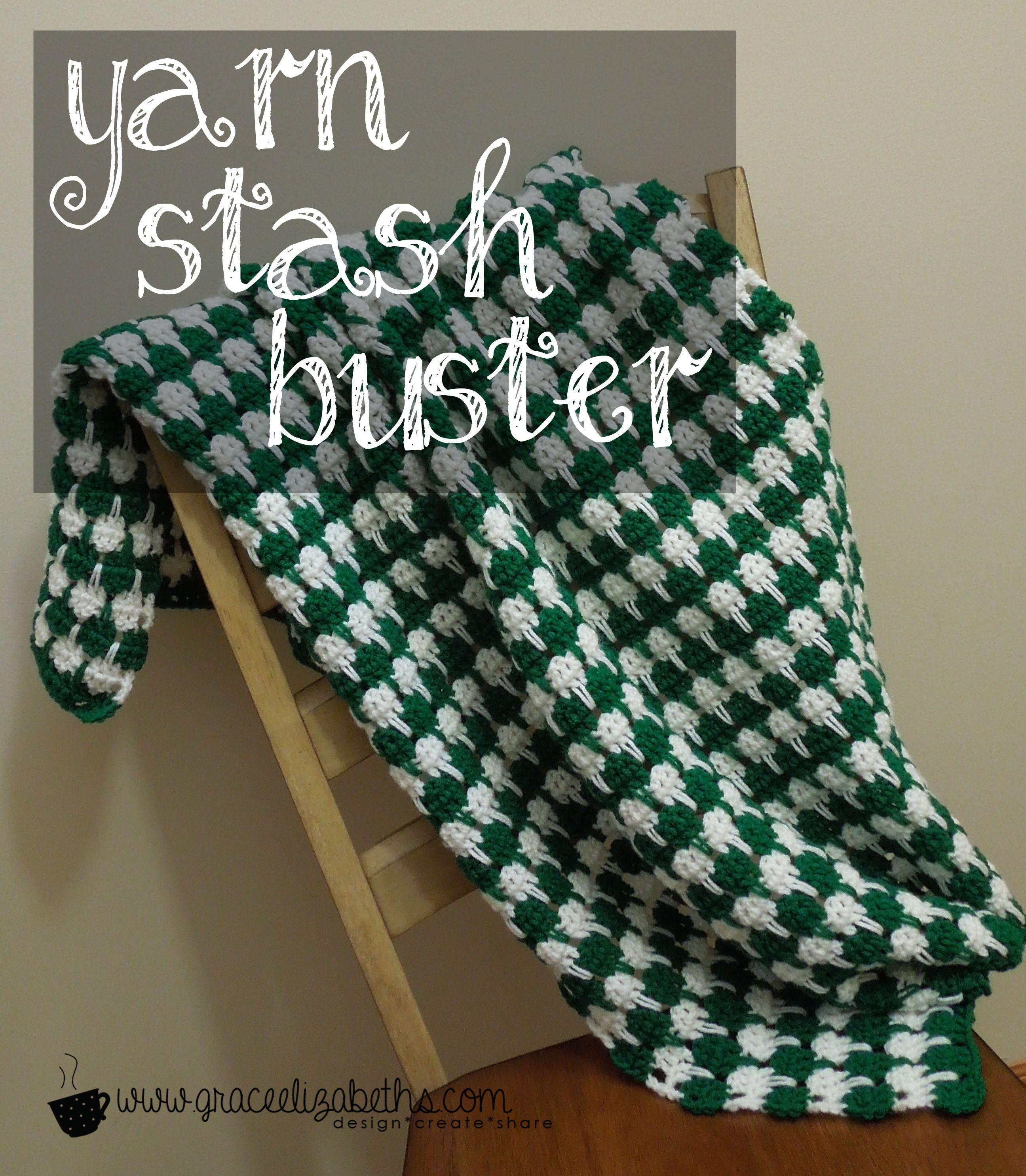 Yarn Stash Buster: Baby Houndstooth Blanket www.graceelizabeths.com ...