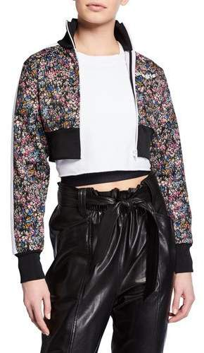 8b812af1e03 Palm Angels Cropped Floral Logo Track Jacket in 2019 | Products ...