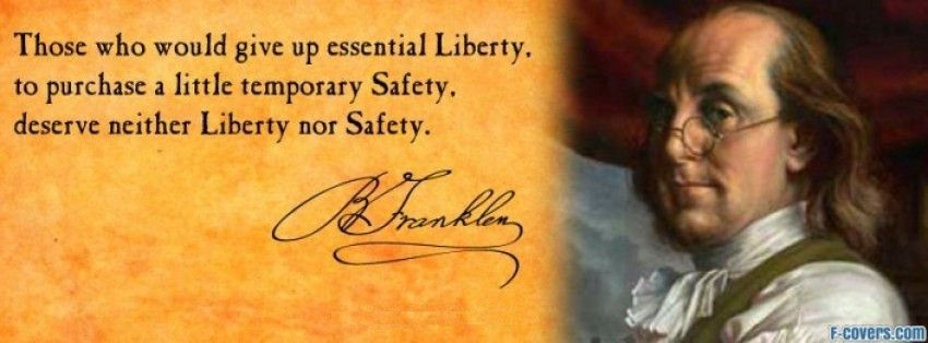Benjamin Franklin Quote Facebook Cover