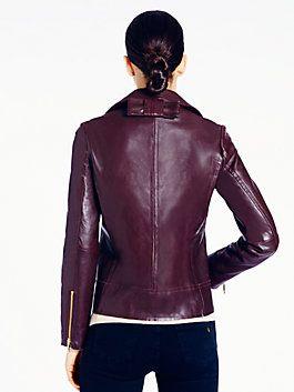 02b7d824f linnea leather jacket, truffle brown | Kate Spade | Pinterest ...
