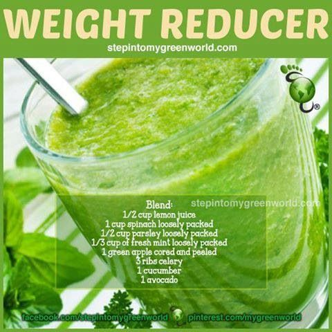 WEIGHT REDUCER GREEN SMOOTHIE: green apple (don't peel ...
