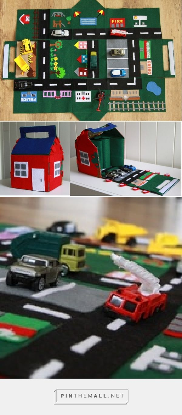 Free Pattern Amp Tutorial For Felt Car Play Mat And House